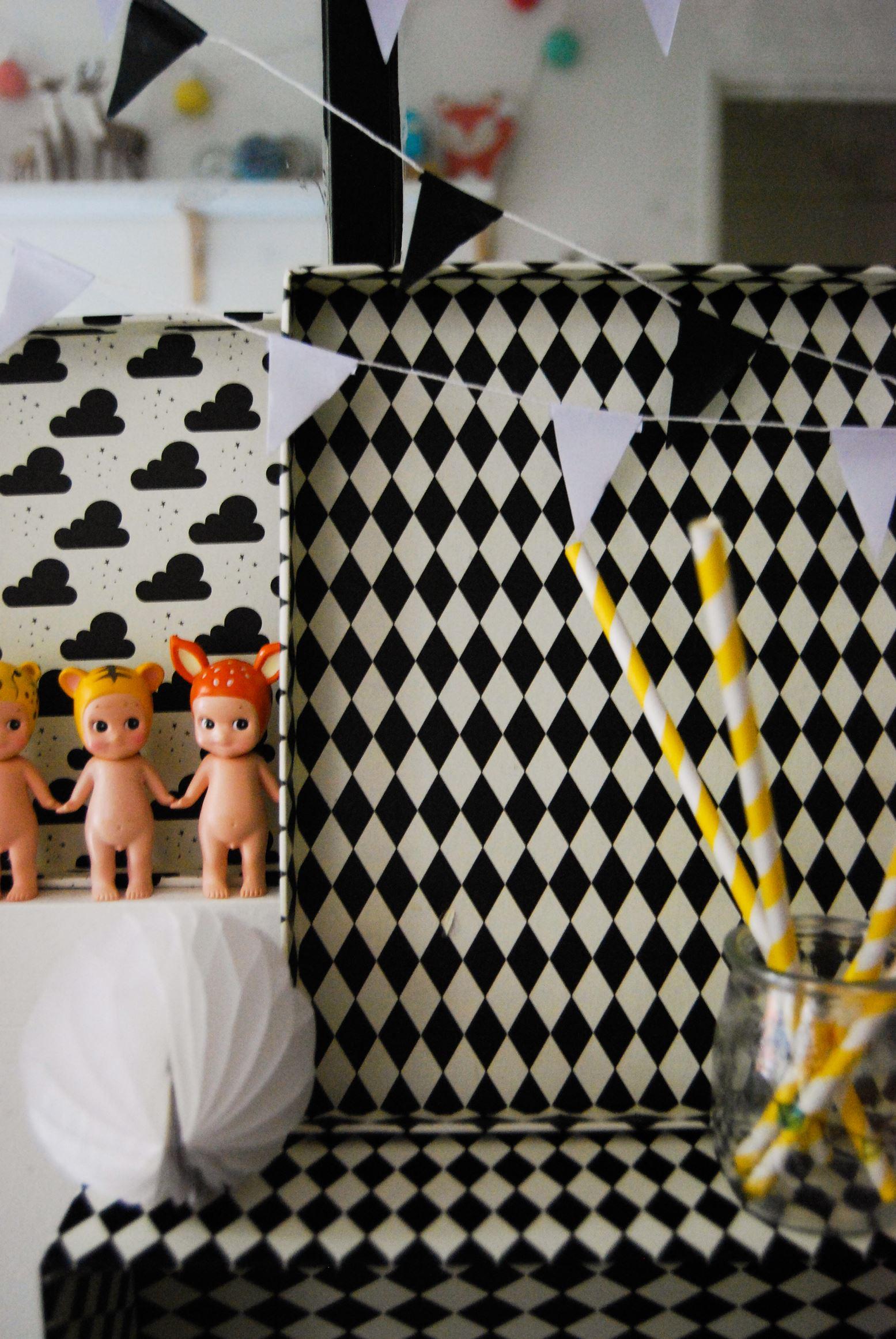 d co d anniversaire en noir et blanc we love charli and capucine. Black Bedroom Furniture Sets. Home Design Ideas
