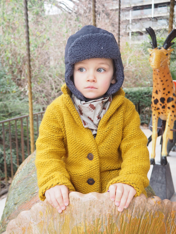 Manteau moutarde bebe