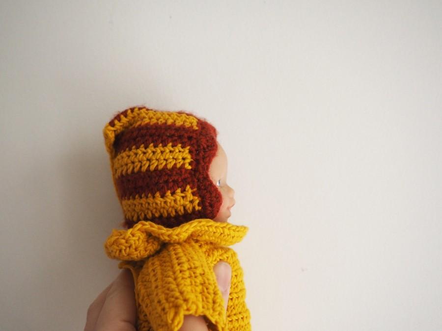 Les petits habits de poupée : Le béguin (tuto1)